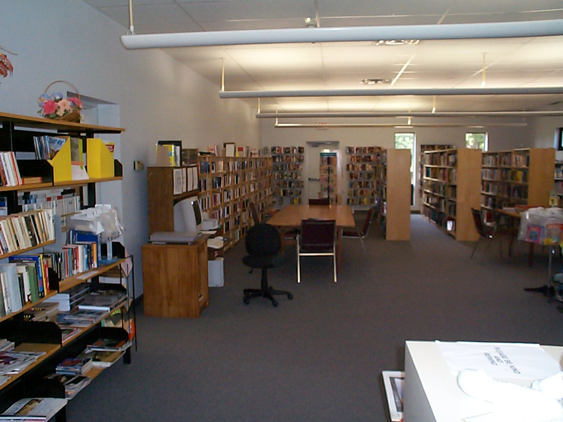 Picture of books in library