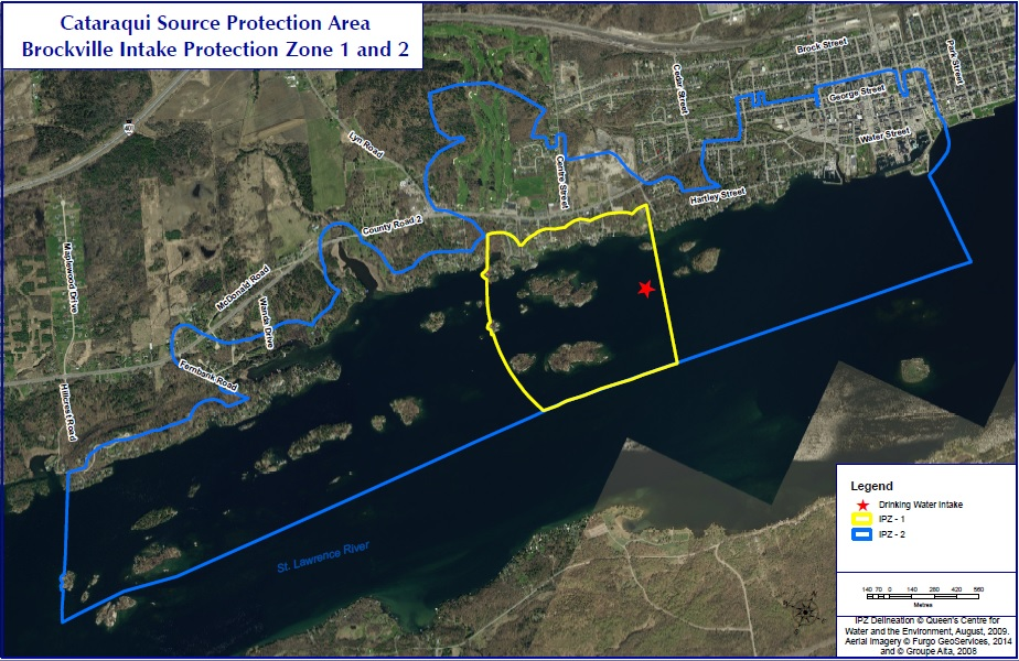 Map of Brockville Intake Protection Zone